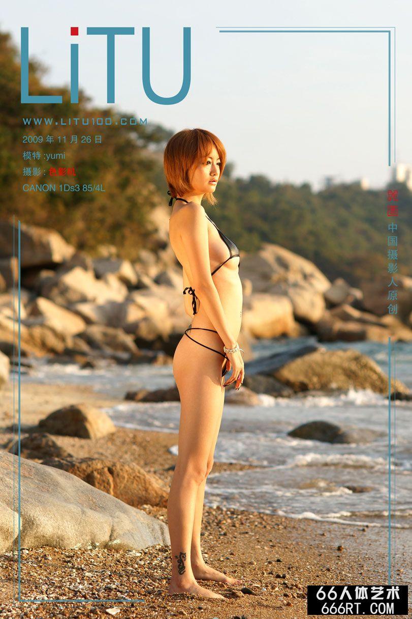 名模yumi09年11月26日外拍情趣内裤人体
