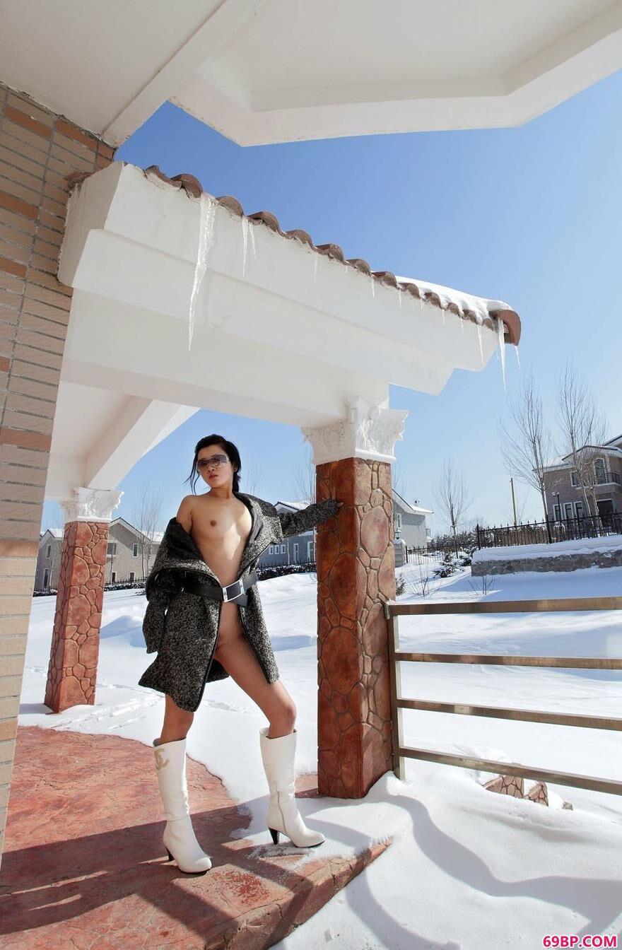裸模邓晶春雪人体专辑1